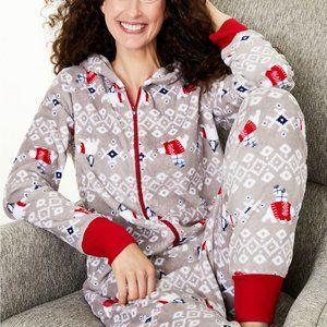 Women's Hooded Polar Bear Pajamas XS NEW